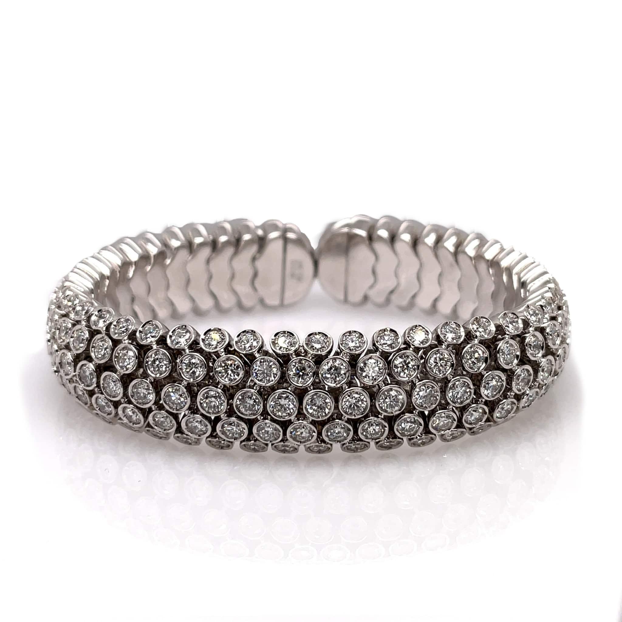 Bezel-set Diamond Bangle