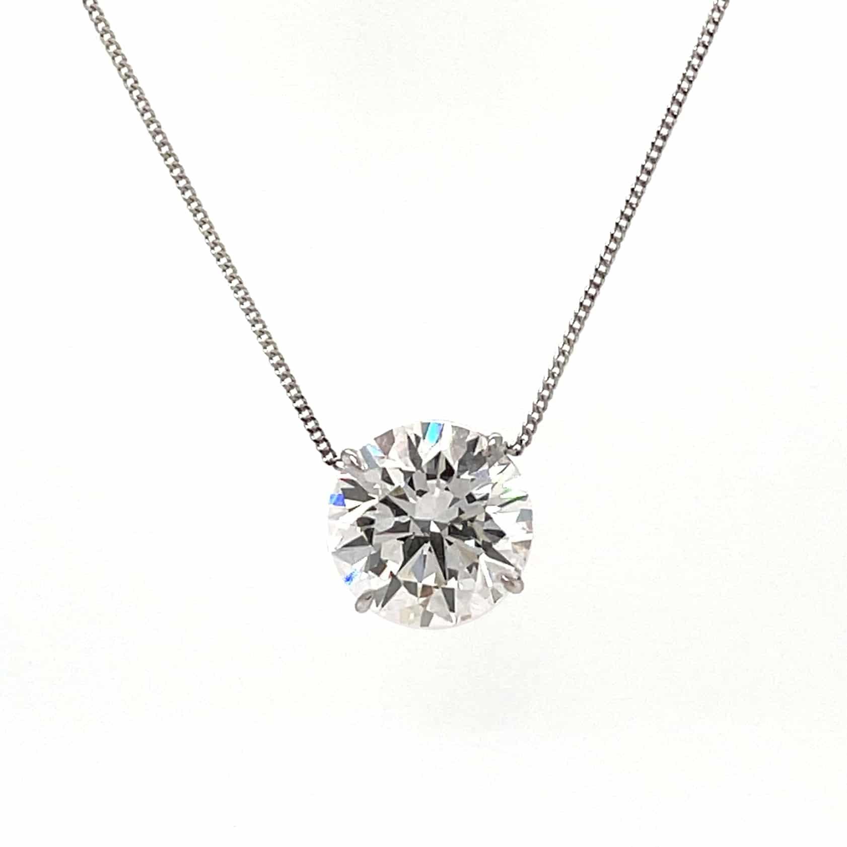 1.14ct Brilliant Round Diamond Solitaire Necklace