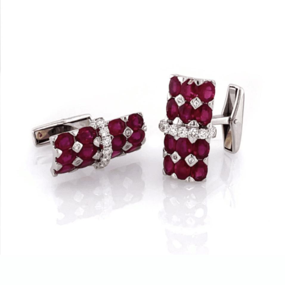 Ruby and Diamond Cufflinks